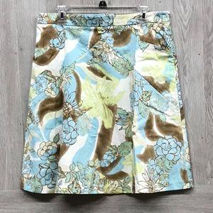 Express Design Studio Green Brown Blue Skirt